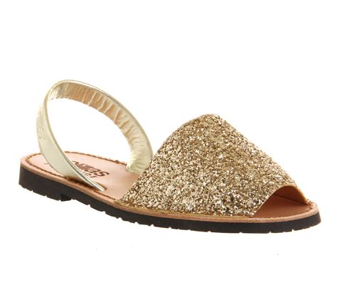 gold sparkly sandals womens solillas solillas sandal gold glitter sandals ebay