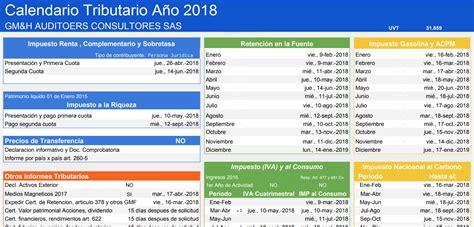 calendario tributario 2016 colombia 2018 calendario tributario 2018 dian gmh personalizado