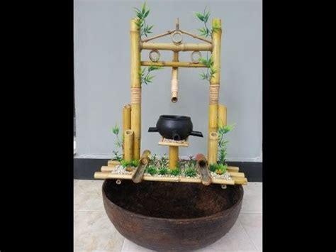 Air Mancur Bambu Coklat Unik pertamanan air mancur bambu unik kreatif