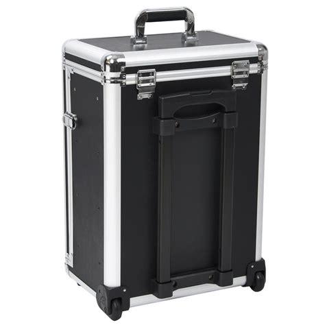 Wheeled Drawers by Rolling Aluminum Makeup Box W Drawers Code Lock Wheeled Organizer Cosmetic Ebay