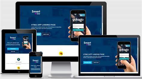 free html5 mobile app templates smartapp free html5 landing page template webthemez