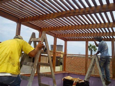 techos de madera para terrazas techos sol y sombra en terraza pergolas de madera s 1