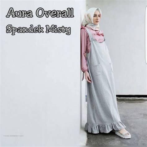 Overall Dress Muslim Wanita Erlina Overall grosir busana muslim aura overall grosir baju muslim