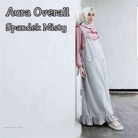 Overall Dress Wanita Muslim Line Overall grosir busana muslim aura overall grosir baju muslim