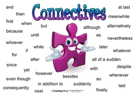connectives posters | teaching ideas
