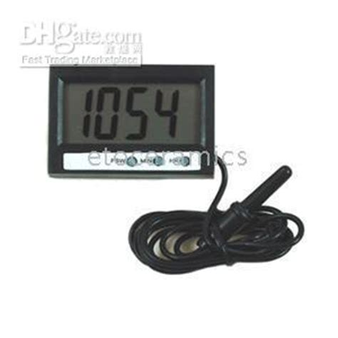 Thermometer Digital St2 cheap new in out lcd dual way digital car thermometer clock with probe st2 st 2