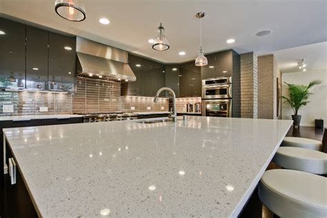 pros and cons of granite countertops in bathroom quartz countertops the eye catcher in every kitchen