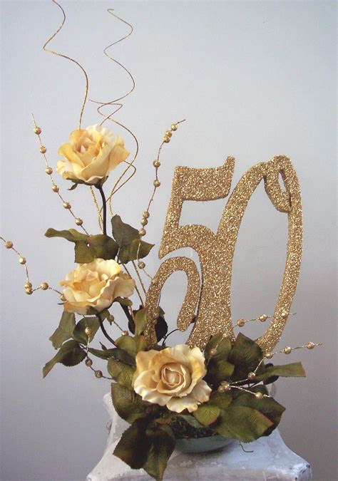 table centerpieces for 50th wedding anniversary 50th wedding anniversary centerpiece ideas 50th