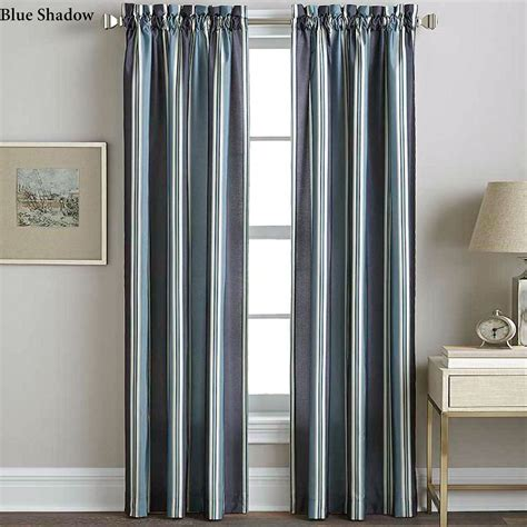 silk curtain panels faux silk striped curtain panels