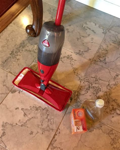 DIY cleaner for marble floors and O Cedar ProMist mop