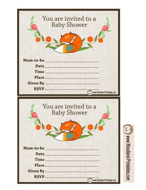 free printable birthday invitations woodland free printable woodland baby shower party invitations