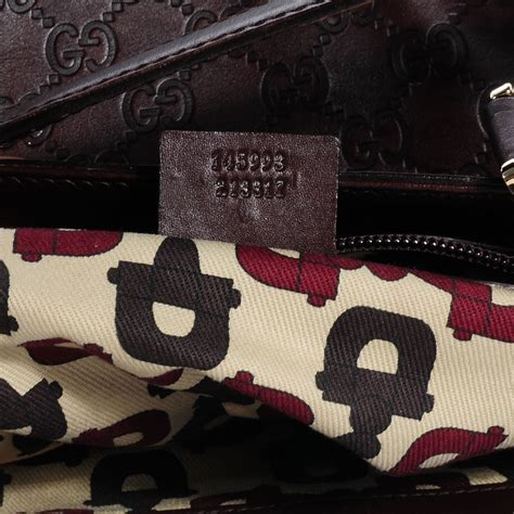 Gucci Big Punch Tote by Gucci Guccissima Large Punch Tote Chocolate Brown 67685