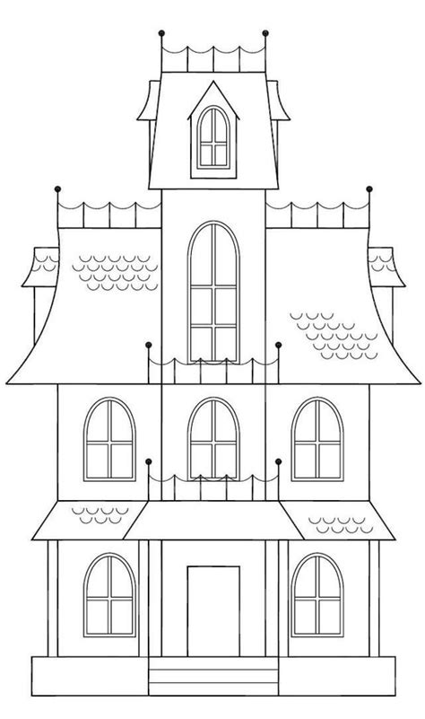 spooky castle coloring page spooky house template haunted house sketch here is a