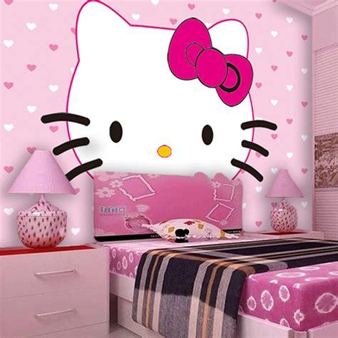 childrens bedroom  kitty fashion wallpaper