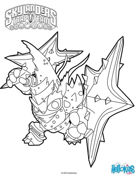 lob star coloring page skylanders trap team coloring pages lob star character
