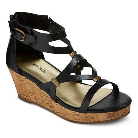 Girls Black Sandals   girls hadison wedge gladiator sandals black target