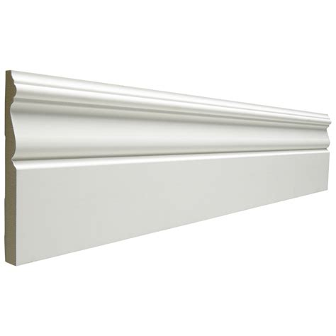Home Hardware Interior Doors by Shop 5 25 In X 12 Ft Interior Mdf Baseboard At Lowes Com