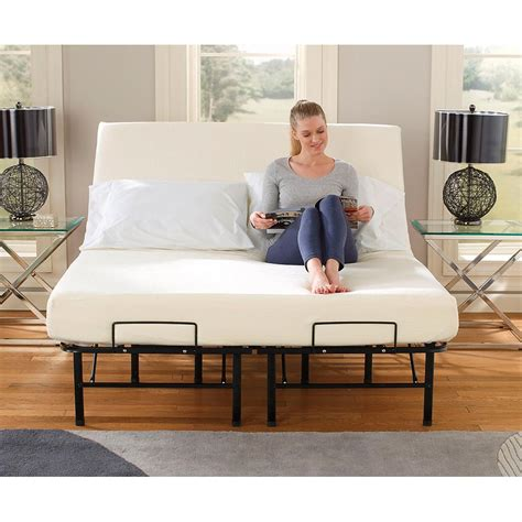 tranquil sleep portable adjustable bed frame foundation