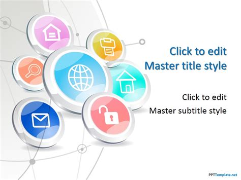 Free Tech Buttons Ppt Template Media Ppt Templates Free