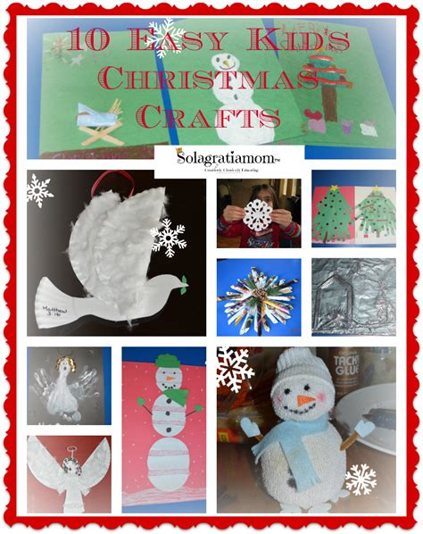 solagratiamom 10 easy kids christmas crafts plus huge