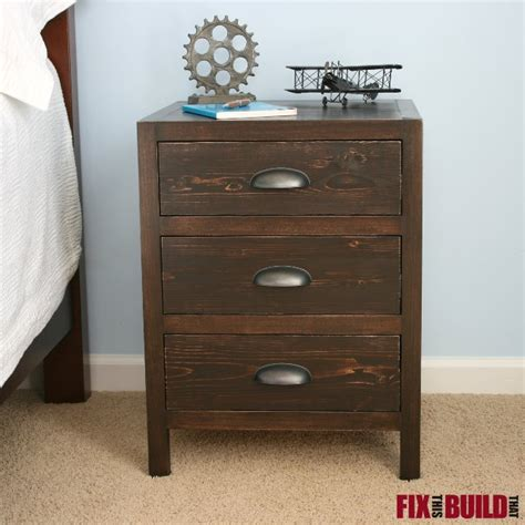3 drawer nightstand plans ana white diy 3 drawer nightstand diy projects
