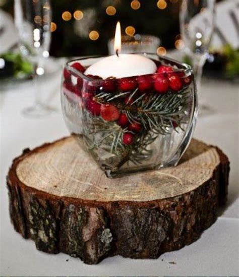 pics for gt rustic winter wedding centerpieces