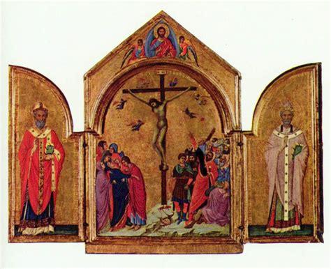 crucifixion triptych 1305 duccio wikiart org