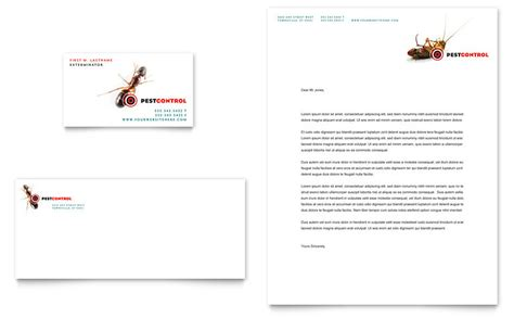 pest control services business card amp letterhead template