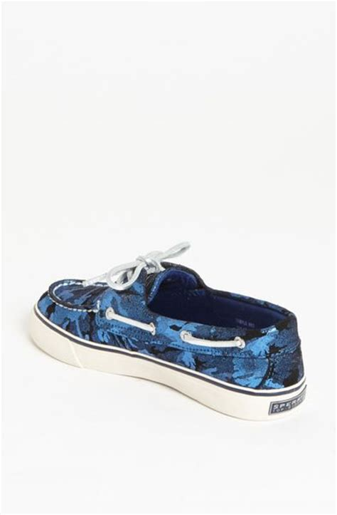 vans boat shoes camo sperry top sider bahama boat shoe in blue blue camo lyst
