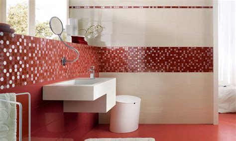 mosaico rosso bagno rivestimenti bagno moderni con idee impressionante colore
