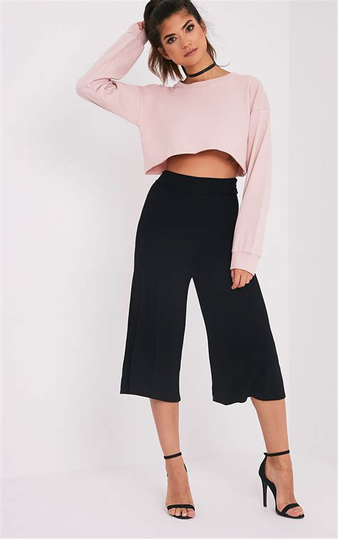 Basic Cullotes s trousers cheap trousers prettylittlething
