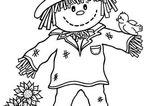 Printable Scarecrow Coloring Pages Coloring Me Scarecrow Color Page