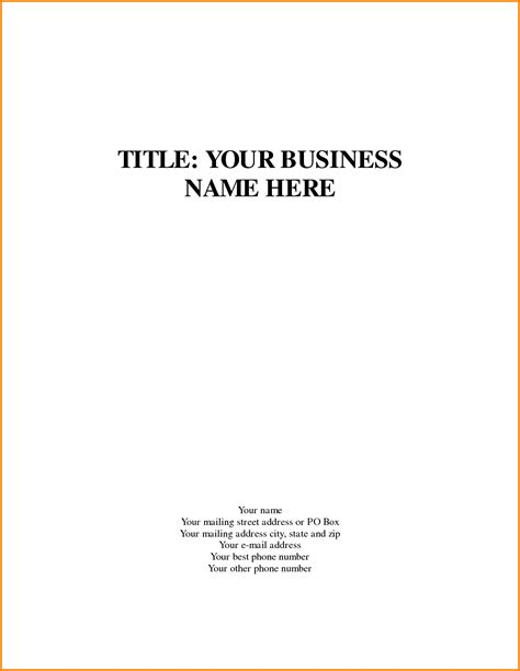 Business Title Page Template Quote Templates Apa Essay Help With Style And College Format Business Plan Cover Page Template Word