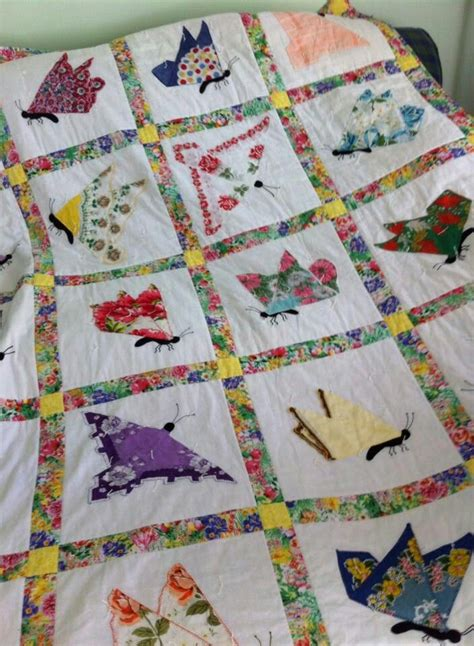 Handkerchief Butterfly Quilt Pattern by 320 Best Vintage Handkerchief Sewing Projects Images On