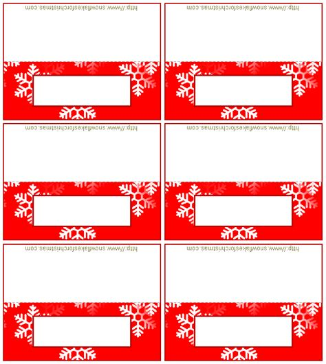 free printable christmas place cards template wedding