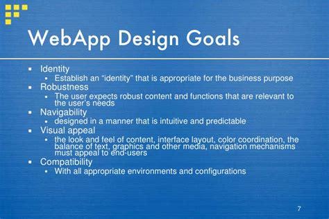 application design goals slides chapter 19