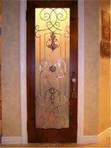 metal decorative door detailing kitchen door pantry door
