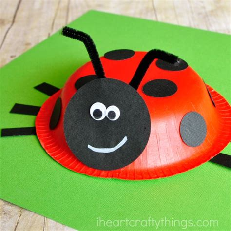 Paper Ladybug Craft - paper bowl ladybug craft i crafty things