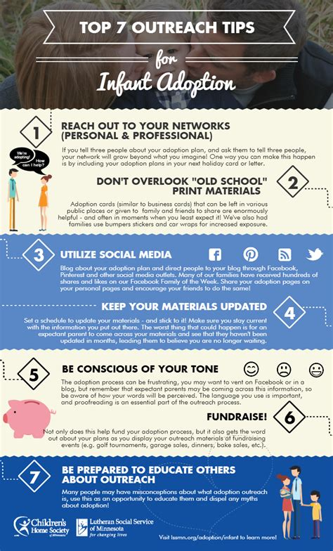 Top 7 Tips For by Infographic Top 7 Outreach Tips For Infant Adoption Chlss