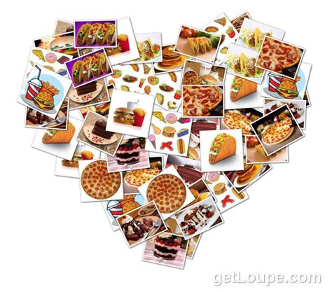 Heart Photo Collage Heart Collage D Here Are Some Sle Fast Food Collage