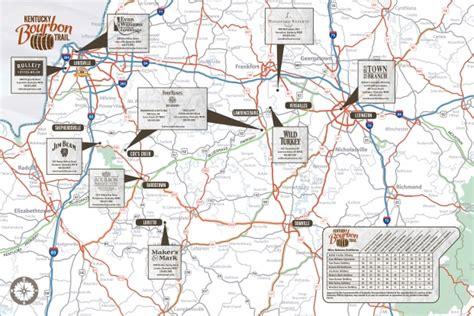 map kentucky bourbon trail bourbon trail map map2