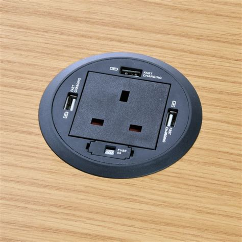 power grommet for desk p grom 80 in desk power grommet with usb chargers