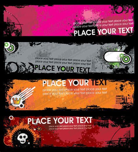 templates de banners em flash der trend banner banner vorlage vektor material 5 free