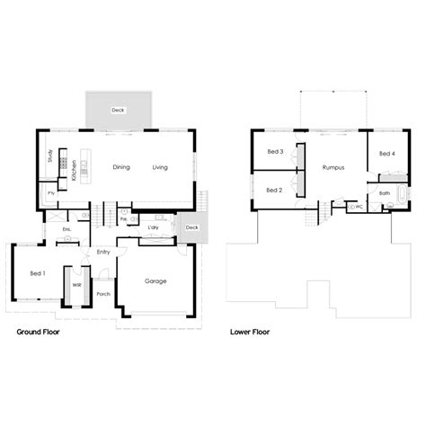 house floor plans sloping blocks split level house plans sloping block