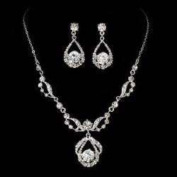 for jewelry diamante bridal jewelry set silver rhinestone
