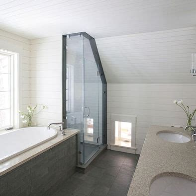 small attic bathroom sloped ceiling bathroom sloped roof design bathrooms pinterest