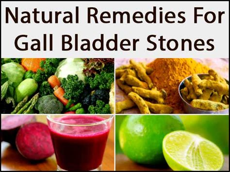 these remedies help remove stones from gall