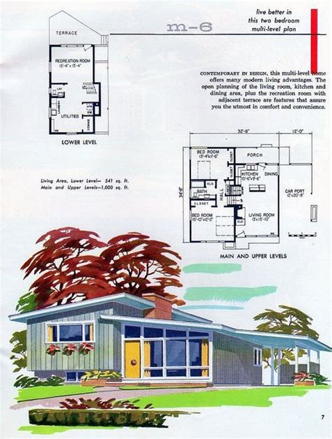 Pin By Dawn On Mid Century Modern House Plans Pinterest Mid Century Modern House Plans Small