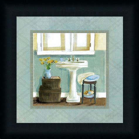 Bathroom Framed Prints Bath Essentials I Teal Bathroom D 233 Cor Framed Print Wall D 233 Cor Picture Ebay