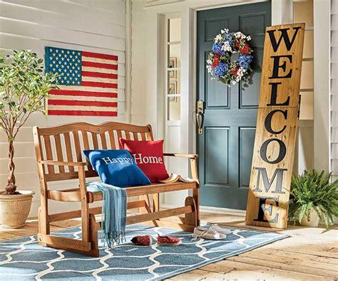 small porch decor patriotic front porch decor